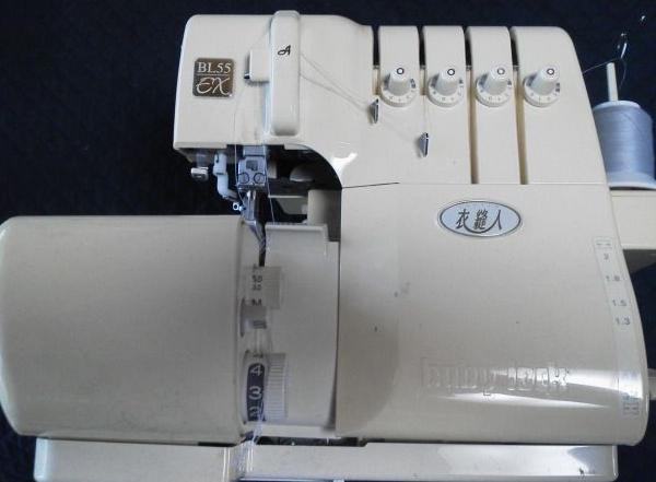 (株)ジューキbabylockミシン修理|衣縫人|BL55EX|はずみ車が回らない|動作音が大きい