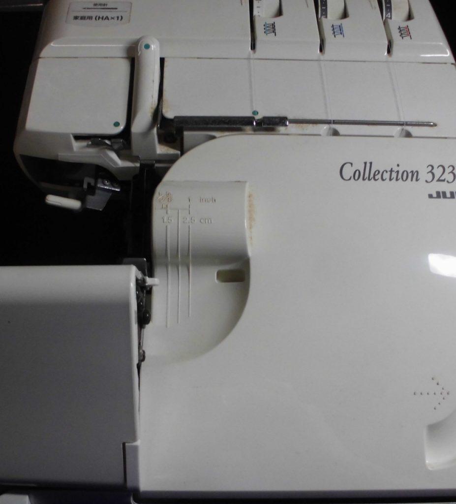 JUKIロックミシン修理 コレクション323D MO-323D ミシンのメンテナンス修理