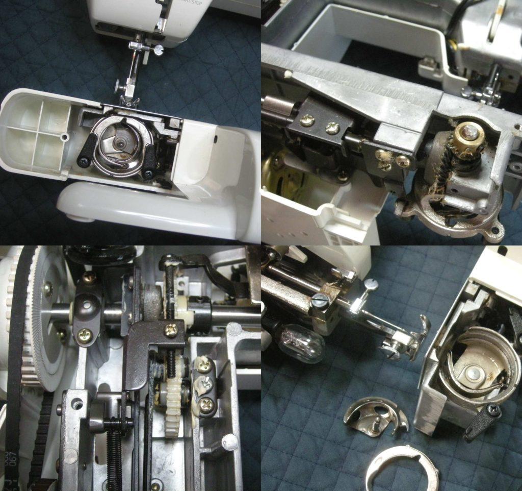 QT-7000の分解オーバーホールメンテナンス修理|SINGERミシン