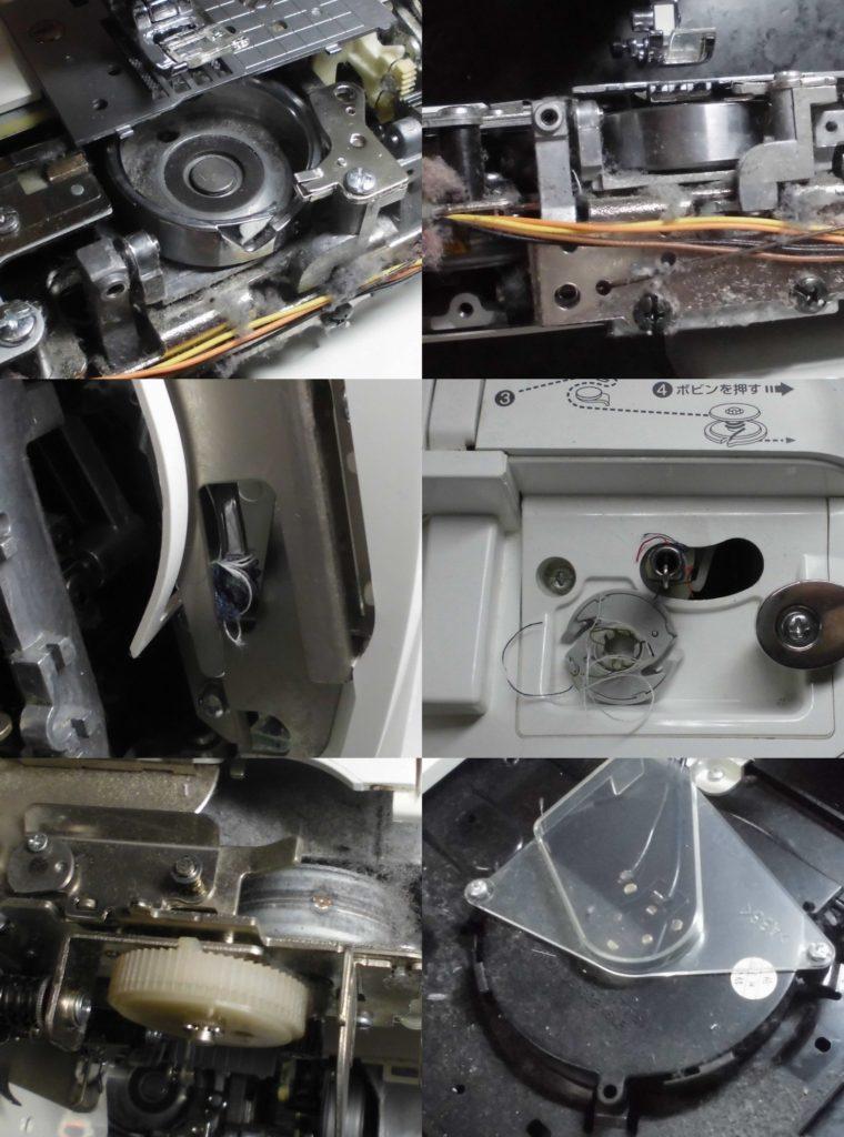 PC-8000の故障、不具合|布を送らない、糸が絡む、糸調子不良、釜の傷