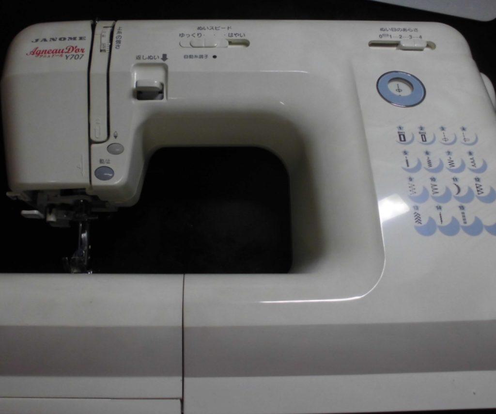 ジャノメミシン修理|アニュドールY707|異音、綺麗に縫えない、糸が絡まる