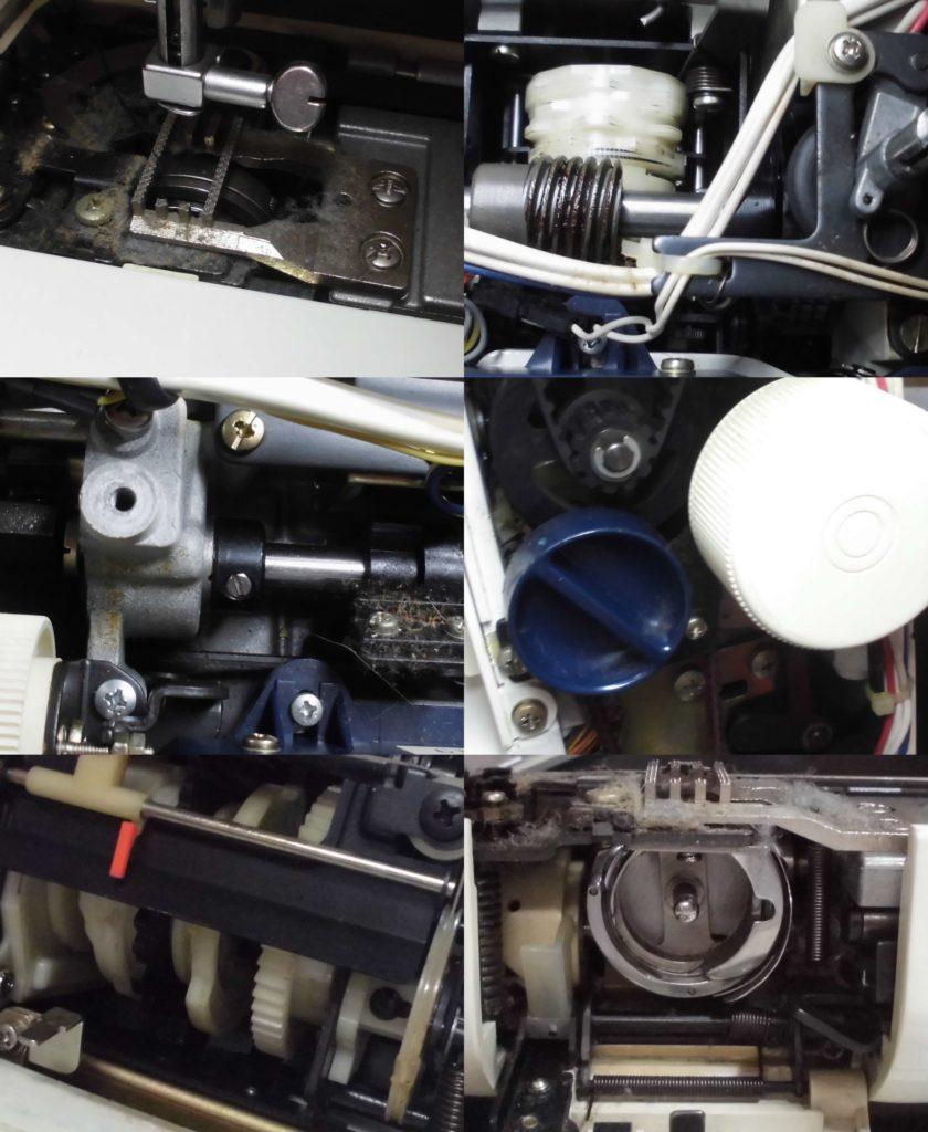 HZL-5000の分解オーバーホールメンテナンス修理|JUKIミシン修理
