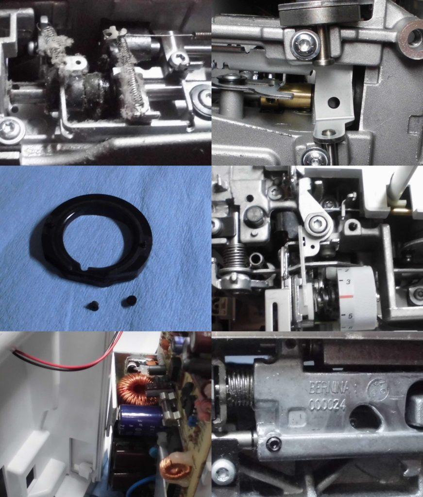 ヴィルティオーゾ153の分解オーバーホールメンテナンス修理|ベルニナミシン修理