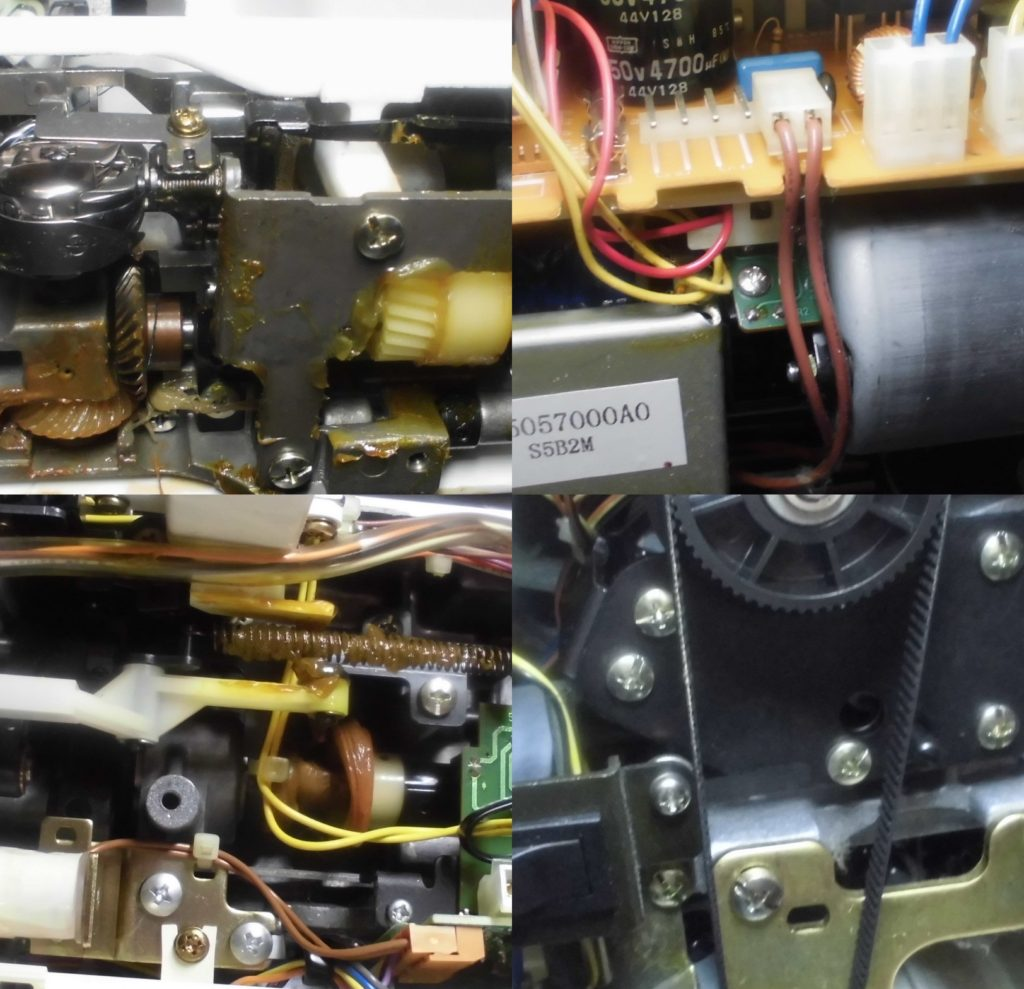HZL-7900の全体メンテナンス修理|JUKIコンピューターミシン